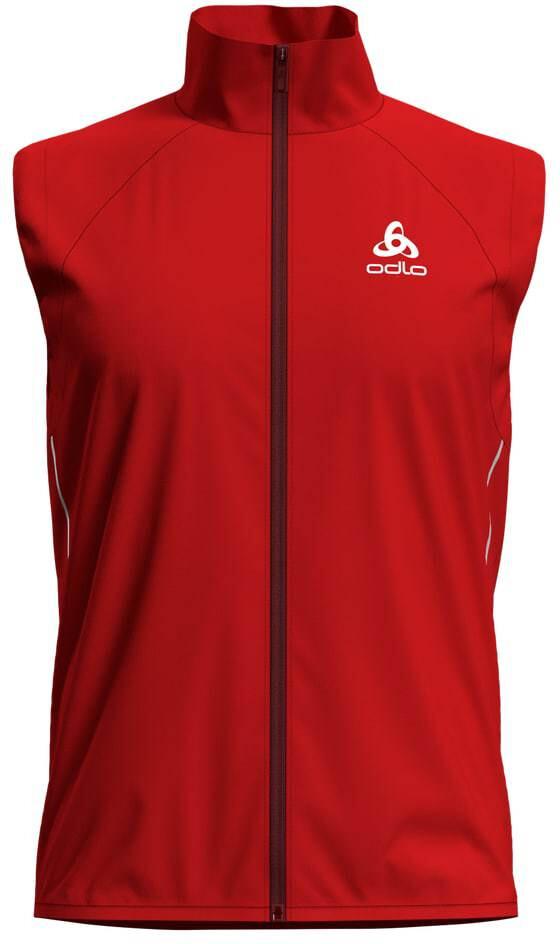 Odlo M s Zeroweight Windproof Warm Vest fiery red  4f1ec08860a21